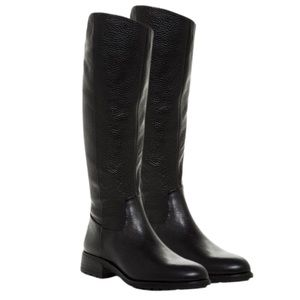 Sam Edelman Black Leather Knee-High Riding Boots
